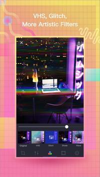 VaporCam-Glitch, Estetika, Vaporwave Foto Editor screenshot 1