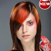 Hair style salon womens hairstyle beauty tips icon