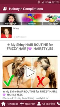 Hair style salon womens hairstyle beauty tips poster