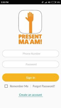 Present Ma'am poster