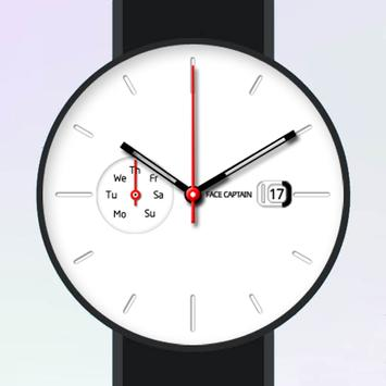 White Plate Watch Face poster