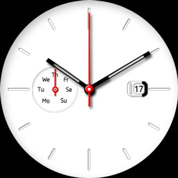 White Plate Watch Face apk screenshot