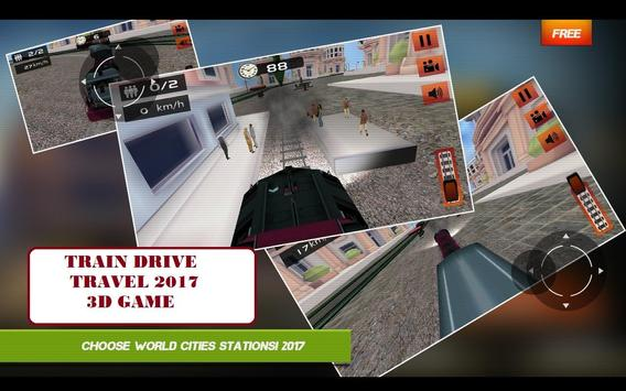 Train Drive Travel 2017 3D Game poster