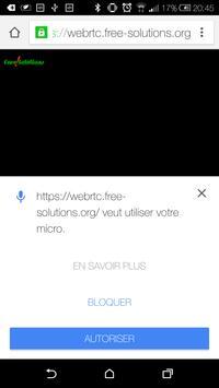 webRTC VideoCall apk screenshot