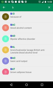 Medical Abbreviations apk screenshot