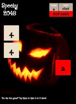 Spooky 2048 - Scary Power of 2 screenshot 1
