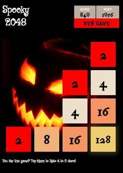 Spooky 2048 - Scary Power of 2 screenshot 2