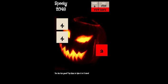 Spooky 2048 - Scary Power of 2 screenshot 3