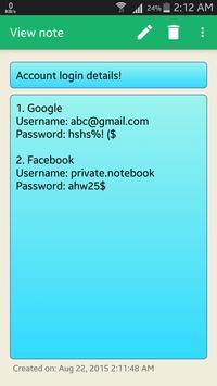 Private Notebook screenshot 5