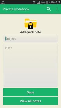 Private Notebook screenshot 1