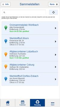 Landkreis Coburg Abfall-App screenshot 4