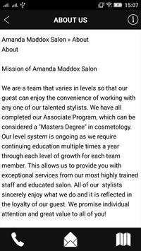 Amanda Maddox Salon screenshot 2