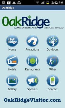 Oak Ridge Visitor's Bureau poster