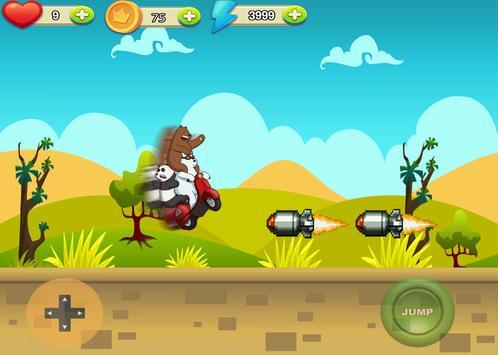 Racing Bare Bears Free apk screenshot