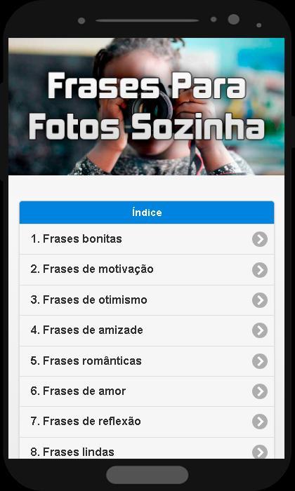 Frases Para Fotos Sozinha For Android Apk Download