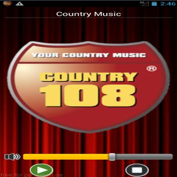 Radio Country 108 poster