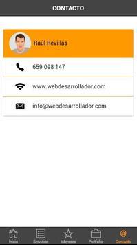 Web Desarrollador App poster