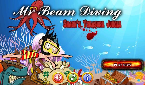 Mr Beam Diving in Shark Jungle poster