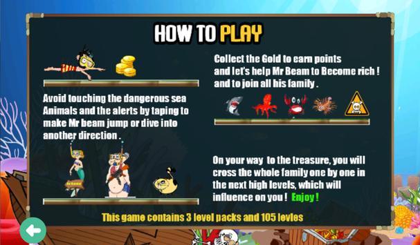 Mr Beam Diving in Shark Jungle apk screenshot