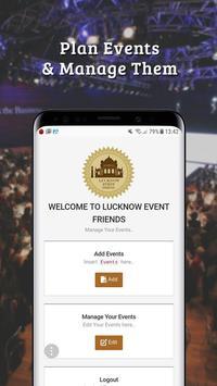 Lucknow Event Friends screenshot 3