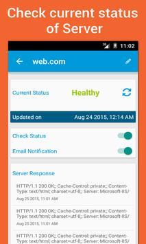 Web Health Monitor ( WHM ) apk screenshot