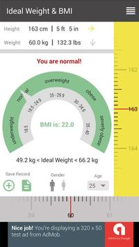Ideal Weight & BMI Calculator apk screenshot