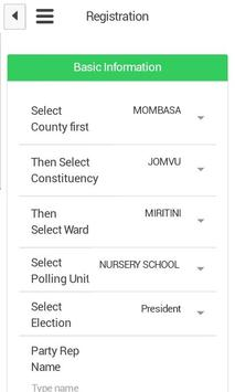 Kenya Elections  2017 Tracking apk screenshot