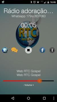 Rádio Adoração RTC gospel poster