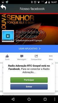 Rádio Adoração RTC gospel screenshot 1