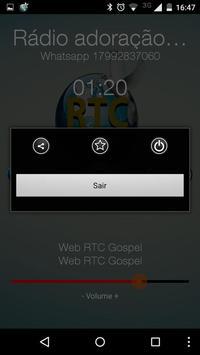 Rádio Adoração RTC gospel screenshot 2