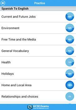GCSE Spanish - AQA Lite apk screenshot