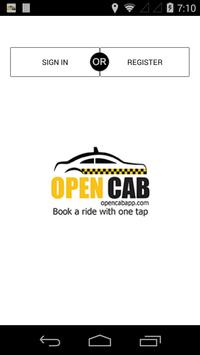 OPEN CAB DRIVER poster