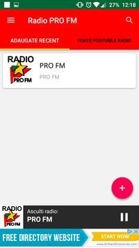 Radio PRO FM Romania apk screenshot
