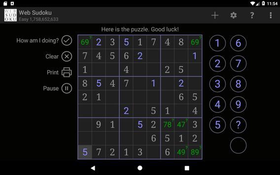 Web Sudoku スクリーンショット 14