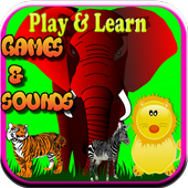 Animal games for children free icon