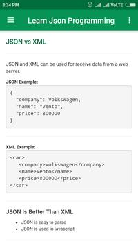 Learn Json Programming for Android - APK Download