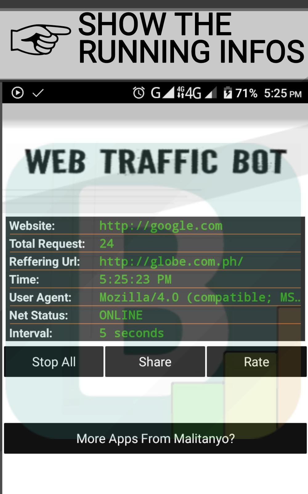 Bot traffic to website