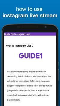 Guide for instagram live 2017 apk screenshot