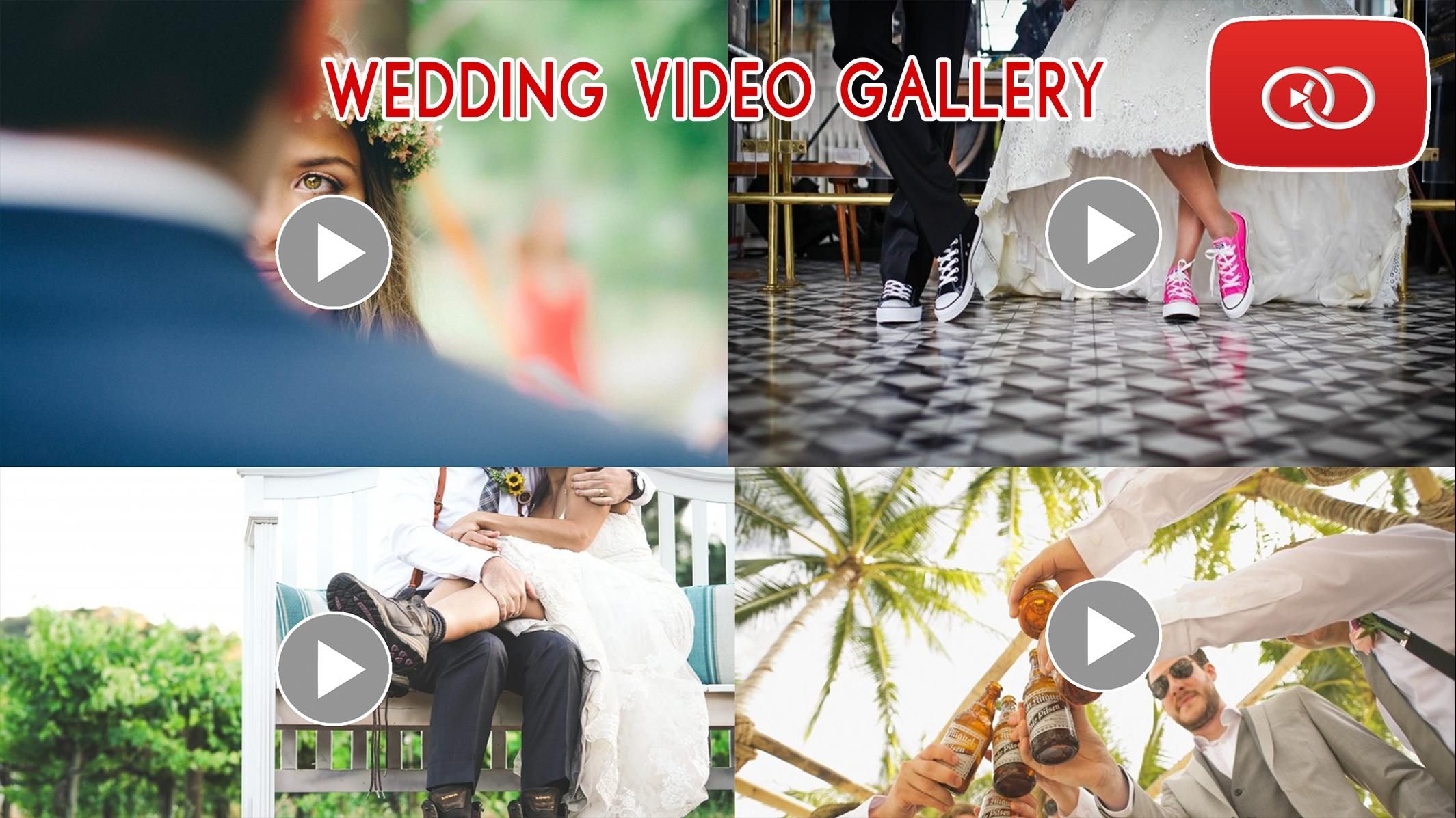Wedding Video Gallery - Backup Videos in YouTube for Android