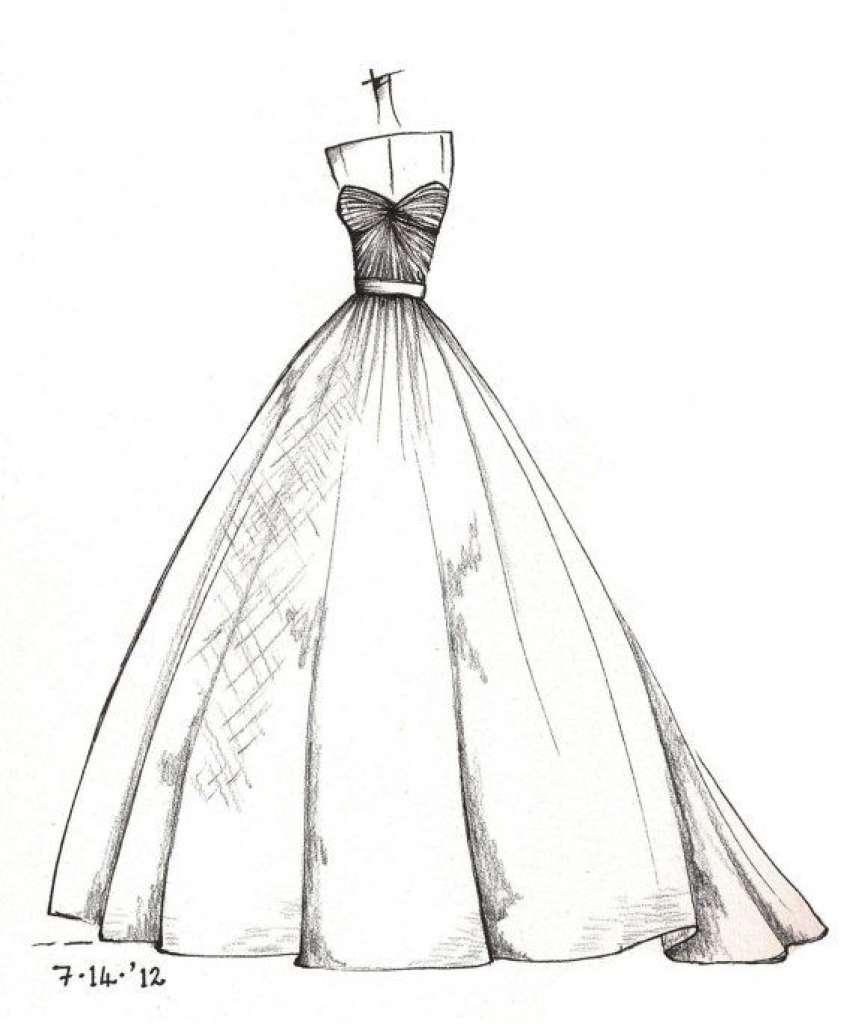 Desain Wedding Dress Sketsa For Android Apk Download