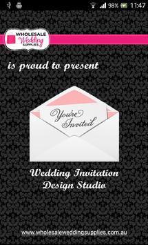 Wedding Invitation Design App poster