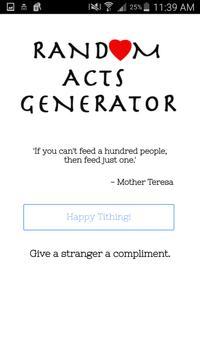 Random Acts Generator apk screenshot