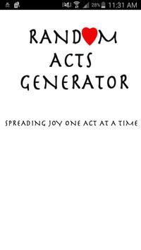 Random Acts Generator poster