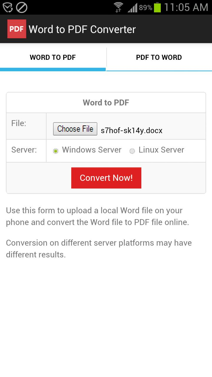 Word to PDF Converter for Android - APK Download