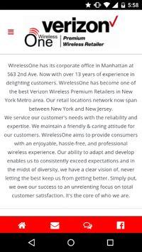 WirelessOne App apk screenshot