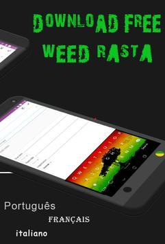 GO Keyboard Weed Rasta screenshot 1