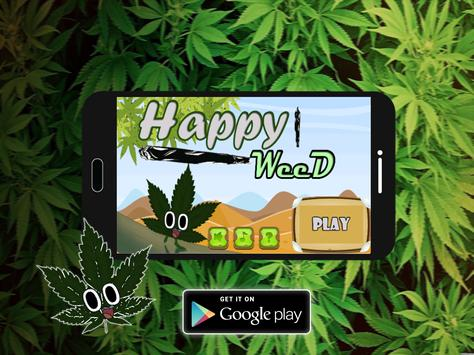 Happy weed run poster