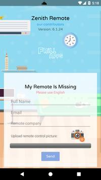 Remote Control For Zenith TV screenshot 5