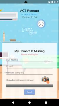 Remote Control For Act screenshot 4