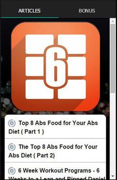 6 Weeks To 6 Pack Abs poster